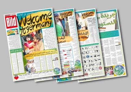 A special newspaper edition design in Arabic, BILD, Axel Springer Verlag, Berlin