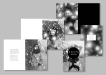 A selection of different designs and layout for a fashion magazine with emphasis on winter clothing